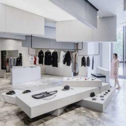 طراحی داخلی فروشگاه لباس در تایوان