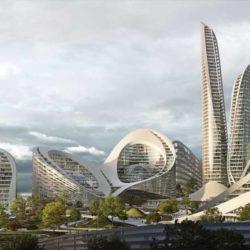 طراحی شهر هوشمند توسط شرکت معماری زاها حدید