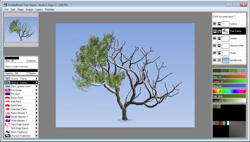 نرم افزار طراحی دو بعدی درخت