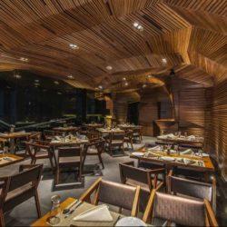 طراحی رستوران و کلوپ شبانه با کانسپت انتزاعی