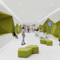 طراحی داخلی بانک DSK در بلغارستان