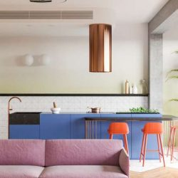 طراحی خانه رنگارنگ برای یک زوج و دو کودک
