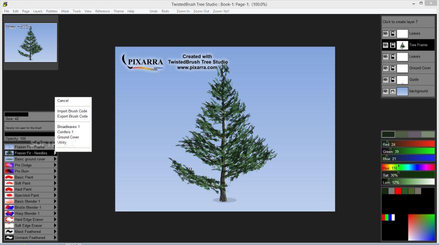 دانلود نرم افزار طراحی دو بعدی درخت