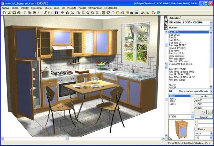 نرم افزار طراحی سه بعدی آشپزخانه