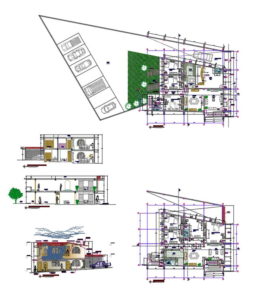 پلان معماری ویلا
