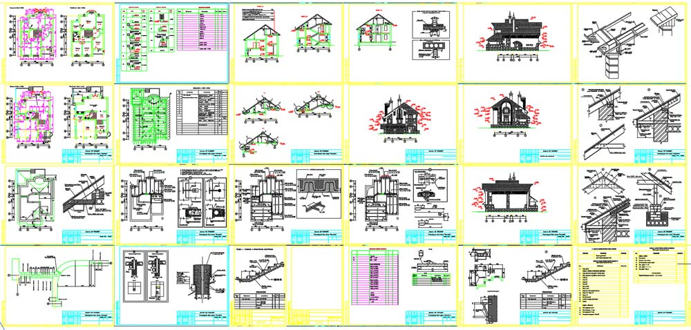 دانلود نقشه معماری ویلا