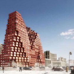 طراحی مجتمع مسکونی با حجم مدولار