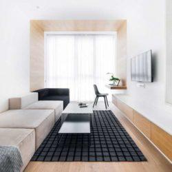 طراحی داخلی آپارتمان کوچکبا مبلمان مناسب