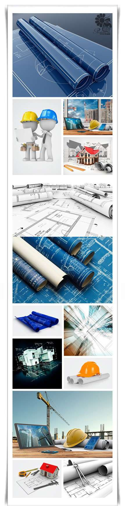 تصویر استوک نقشه معماری