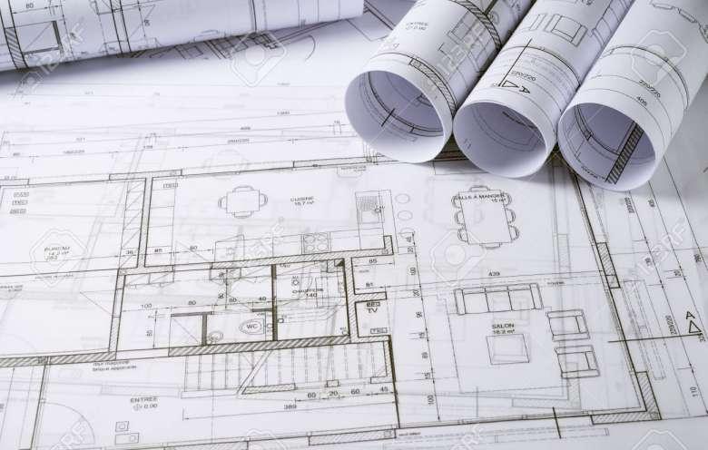 تصاویر استوک نقشه ساختمان