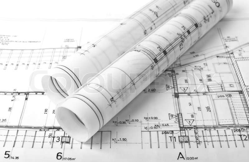 تصاویر استوک نقشه معماری