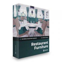 مدل سه بعدی مبلمان رستوران