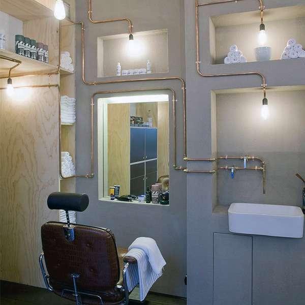 دکوراسیون آرایشگاه مردانه