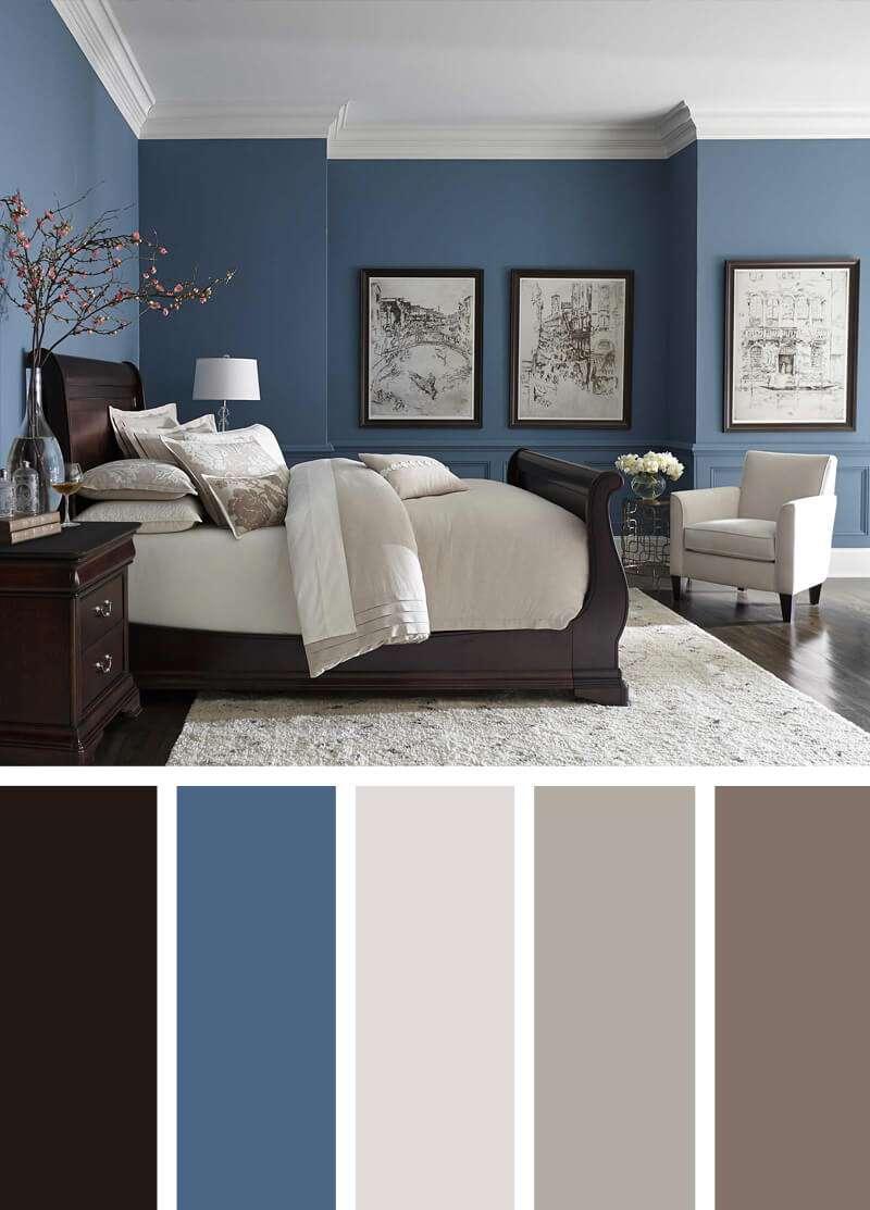 ترکیب رنگ دکوراسیون اتاق خواب
