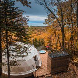 طراحی اقامتگاه گنبدی در کانادا