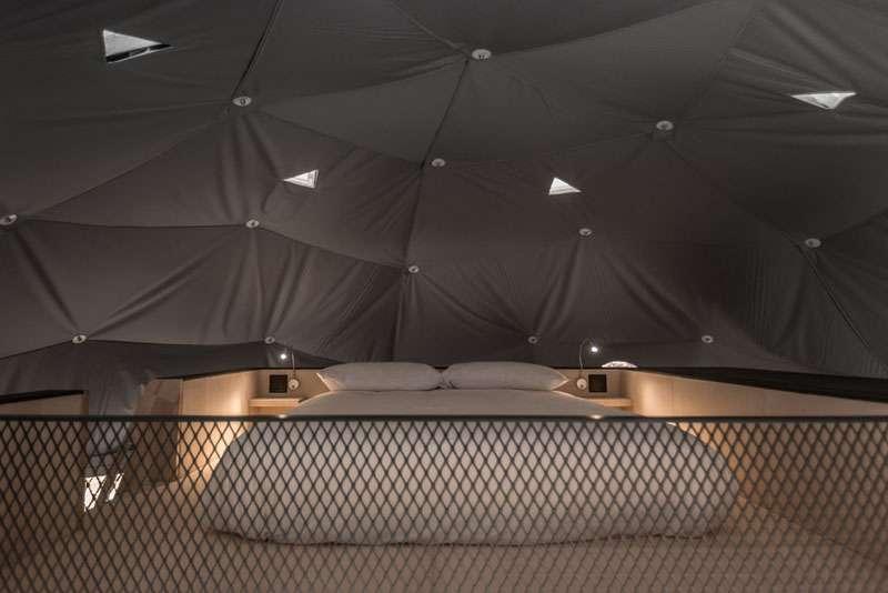 طراحی اقامتگاه گنبدی چهار فصل