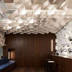 طراحی داخلی فروشگاه هدفون در 28 متر مربع