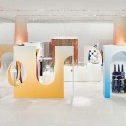 طراحی داخلی فروشگاه روسری هرمس