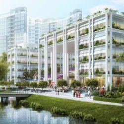 طراحی پلی کلینیک و سرای محله در سنگاپور