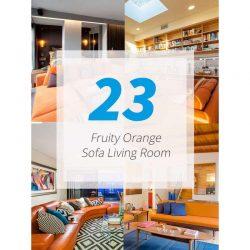 23 ایده طراحی نشیمن با رنگ نارنجی