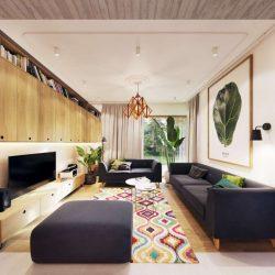 طراحی داخلی آپارتمان با دکوراسیون مدرن و گرم
