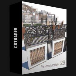 مدل سه بعدی فنس و حصار