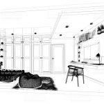 تصاویر اسکچ طراحی داخلی