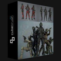 مدل سه بعدی کاراکتر سرباز