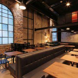 طراحی داخلی رستوران به سبک بورتالیسم و رترو