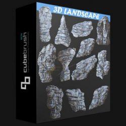 مدل سه بعدی سنگ – دانلود رایگان آبجکت تخته سنگ واقع گرایانه