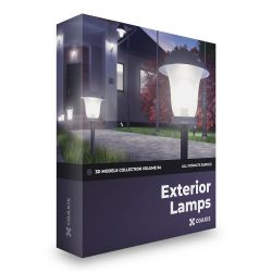 مدل سه بعدی لامپ بیرون – دانلود رایگان ولوم 94 CGAxis