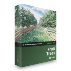 مدل سه بعدی درخت میوه