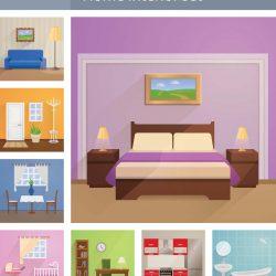 مجموعه تصاویر وکتور دکوراسیون داخلی منزل