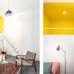 طراحی آپارتمان با سه باکس رنگی