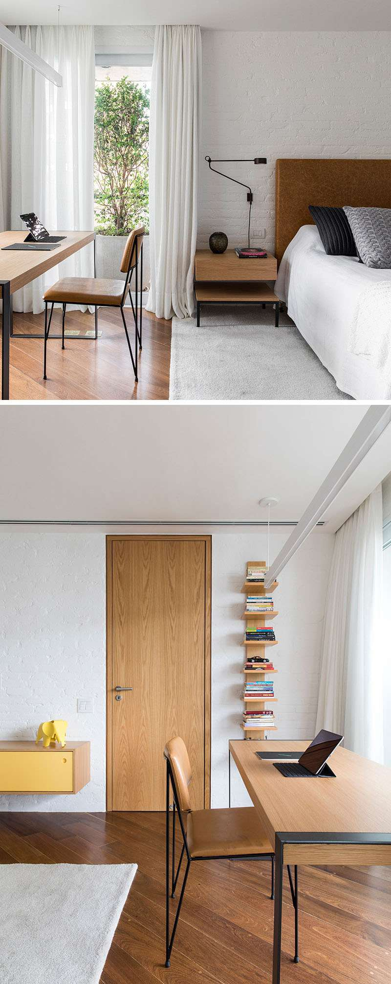 دکوراسیون داخلی پنت هاوس مدرن با چوب