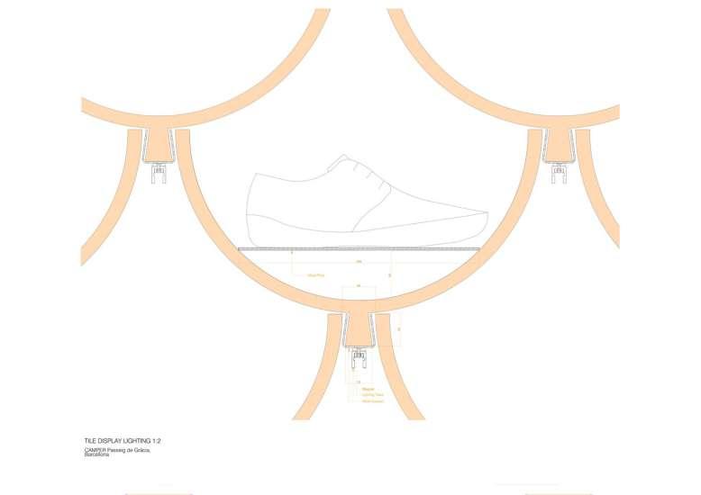 پلان کفش فروشی