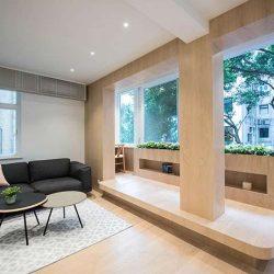 طراحی استودیو آپارتمان با مبلمان سفارشی