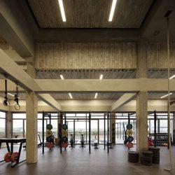 طراحی باشگاه بدنسازی بزرگ با بودجه محدود