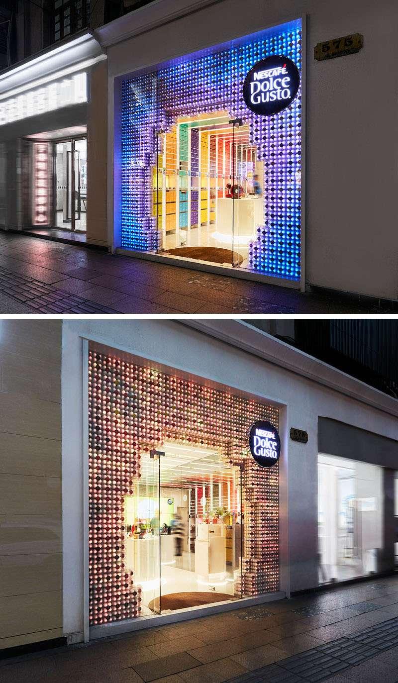 طراحی ویترین فروشگاه نسکافه