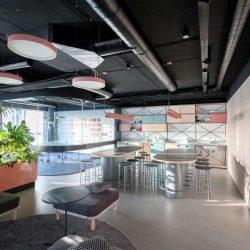 طراحی دفتر کار با پلان باز