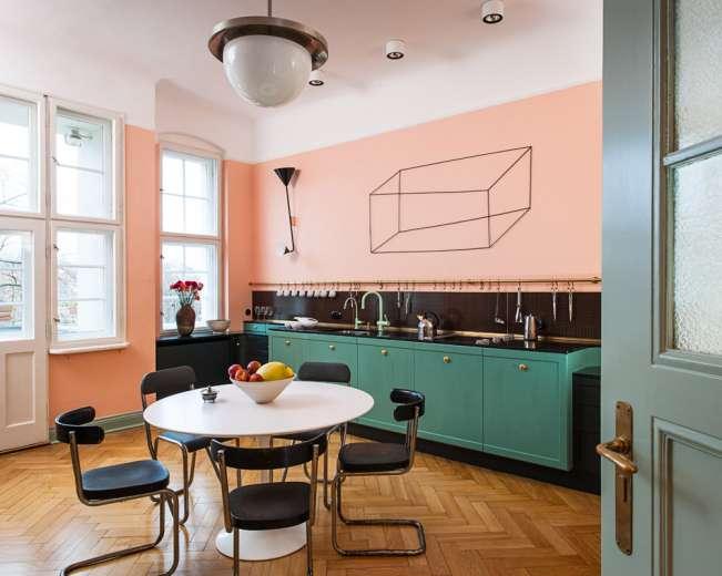 دکوراسیون داخلی آشپزخانه صورتی
