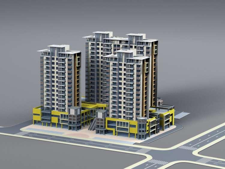 دانلود رایگان تصاویر مدل سه بعدی ساختمان