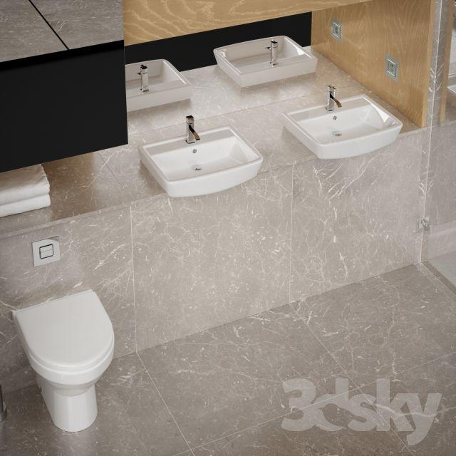 مدل سه بعدی سینک دستشویی