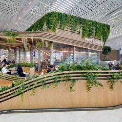 طراحی کافی شاپ دوقلو در فرودگاه کره جنوبی