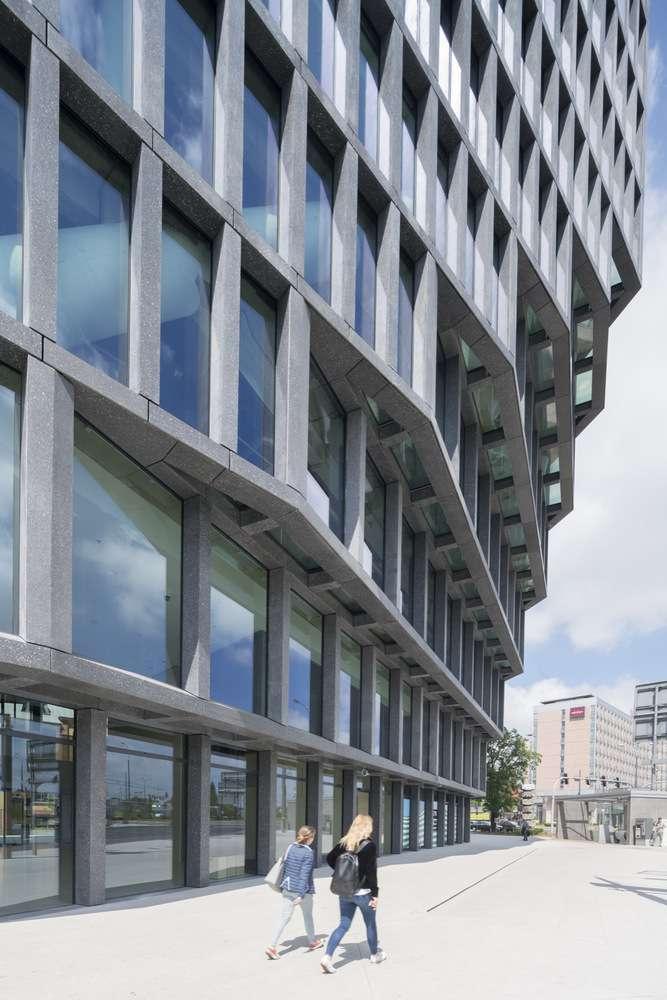 طراحی نمای ساختمان اداری