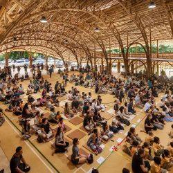 طراحی سالن ورزشی مدرسه ابتدایی با سازه بامبو