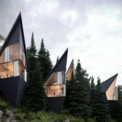 طراحی هتل بوتیک با کانسپت درخت های پایدار