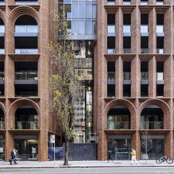 طراحی برج مسکونی با نمای قوس دار