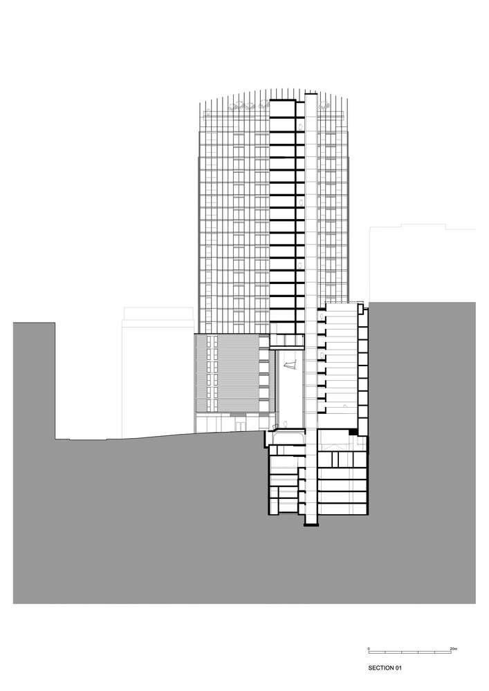 پلان برج مسکونی سن کلارنس