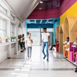 طراحی مدرسه رنگارنگ برای کودکان پناهجو در اسرائیل